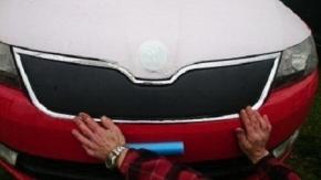 Zimní clona přední masky pro RAPID/SPACEBACK 5D DOLNÁ