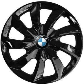 """Puklice pre BMW 16"""", STIG ČIERNE LAKOVANÉ 4ks"""