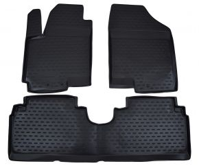 Gumové autokoberce KIA Venga /Hyundai ix20  2010-up 3 ks