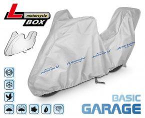 PLACHTA NA motocykl BASIC GARAGE D. 215-240 cm + kufr