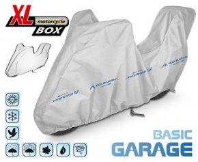 PLACHTA NA motocykl BASIC GARAGE D. 240-265 cm + kufr