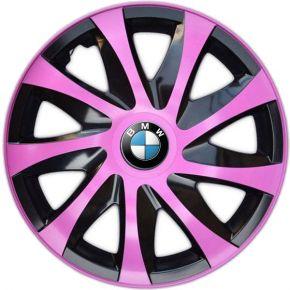 """Poklice pro BMW 14"""", DRACO RŮŽOVÉ 4ks"""