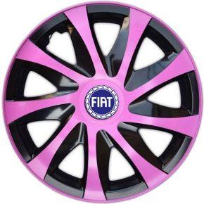 """Poklice pro FIAT BLUE 15"""", DRACO RŮŽOVÉ 4ks"""