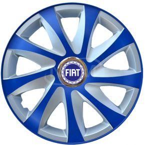 """Poklice pro FIAT 14"""", DRIFT EXTRA modro-stříbrné  4ks"""