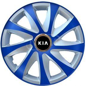 "Poklice pro KIA 14"", DRIFT EXTRA modro-stříbrné  4ks"