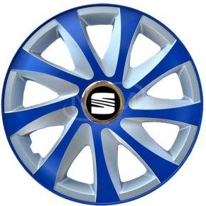 """Poklice pro SEAT 14"""", DRIFT EXTRA modro-stříbrné  4ks"""