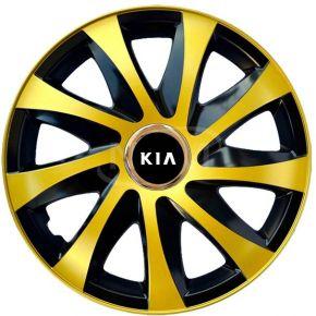 "Poklice pro KIA 15"", DRIFT EXTRA zlaté 4ks"