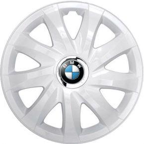 """Poklice pro BMW 14"""", DRIFT BÍLÉ LAKOVANÉ 4ks"""