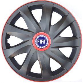 """Poklice pro FIAT 16"""", KANDO RACE červené 4ks"""