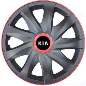 "Poklice pro KIA 14"", KANDO RACE červené 4ks"