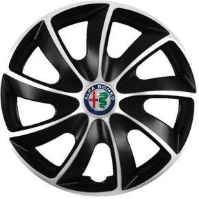 "Puklice pre Alfa Romeo 17"", Quad bicolor, 4 ks"