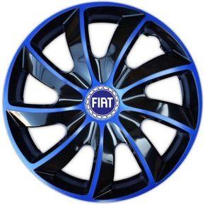 """Poklice pro FIAT BLUE 14"""", QUAD BICOLOR MODRÉ 4ks"""