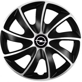 "Puklice pre Opel 15"", Quad bicolor, 4 ks"