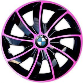 "Poklice pro BMW 14"", QUAD BICOLOR RŮŽOVÉ 4ks"