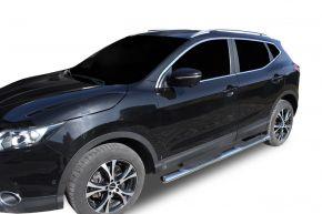 """Boční nerezové rámy pro Nissan Qashqai 2014-2019 4"""" oval"""