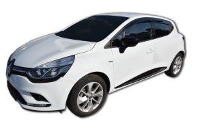Ofuky oken SCOUTT pro RENAULT CLIO 4 HB, L + P 2013-, přední a zadní, 4ks, 5-dv.