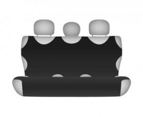 Autotriko COTTON na zadní nedělenou sedačku černé Alfa Romeo Mito