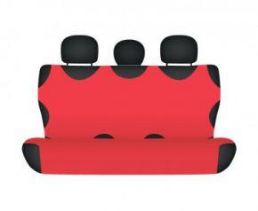 Autotriko COTTON na zadní nedělenou sedačku červené Citroen C3