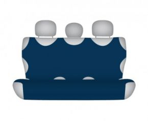 Autotriko COTTON na zadní nedělenou sedačku tmavě modré Fiat Strada