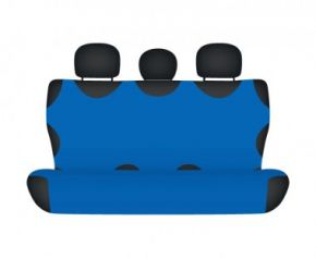 Autotriko COTTON na zadní nedělenou sedačku modré Kia Carens