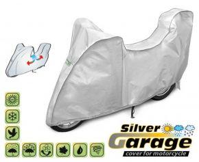 Ochranná plachta na motocykl SILVER GARAGE proti slunci a dešti. D. 215-240 cm + kufr