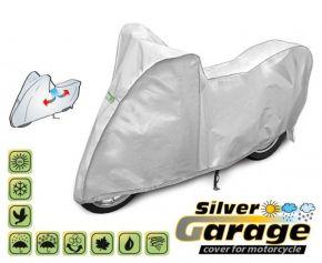 Ochranná plachta na motocykl SILVER GARAGE proti slunci a dešti. D. 215-240 cm