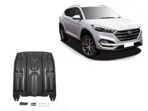 Ocelový kryt motoru a převodovky Hyundai Tucson TL 2WD/4WD 1,6GDI;2WD/4WD 2,0MPI; 2WD/4WD 2,0CRDI; 2WD/4WD 1,6T (177hp) 2015-
