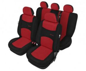 Autopotahy Sport line červene - sada Citroen C3 Univerzální potahy